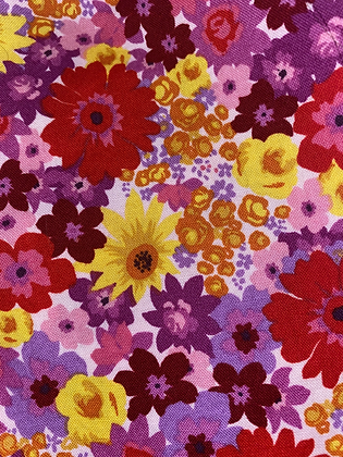 Pink, Purple, Yellow Floral