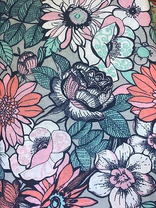 Coral & Teal Floral