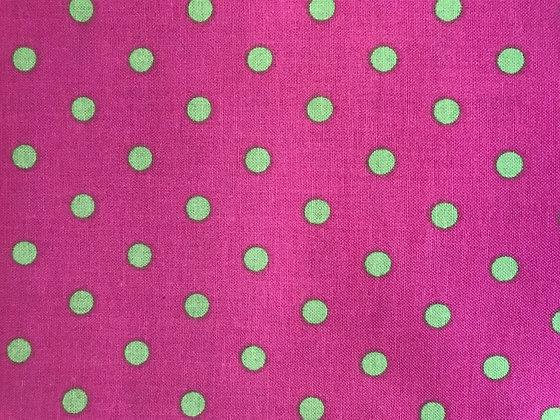 Pink & Green Big Polka Dots