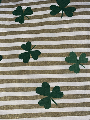 Gold Stripes & Clovers