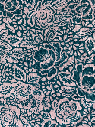 Dark Teal and Light Pink Floral