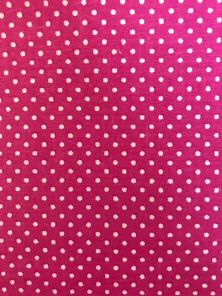 Pink & White Small Polka Dots