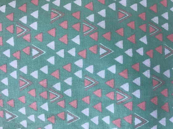 Green & Coral Triangles