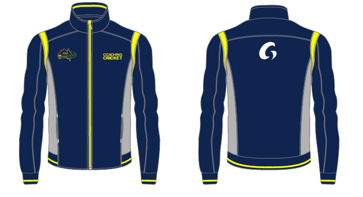 Coaching Cricket Track Top - Blue