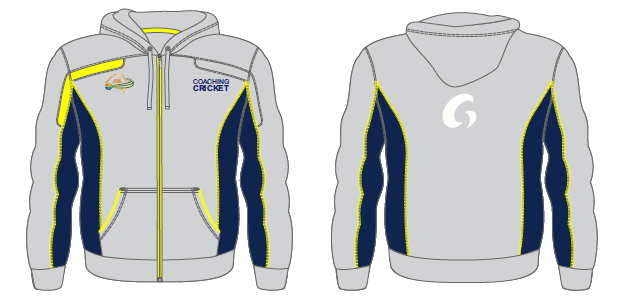 Coaching Cricket Hoodie - Grey