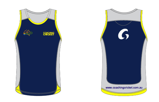 Coaching Cricket Singlets - Blue