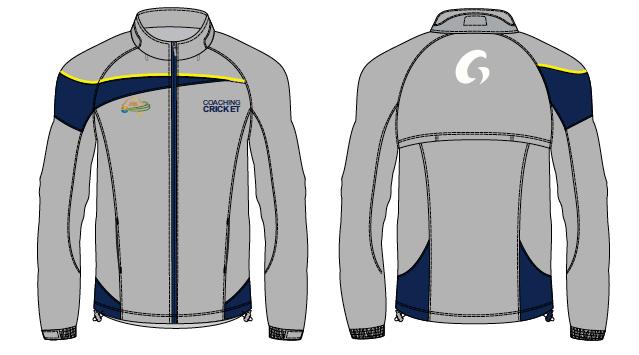 Coaching Cricket Spray Jackets - Grey