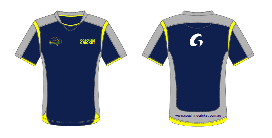 Coaching Cricket Training Top - Blue