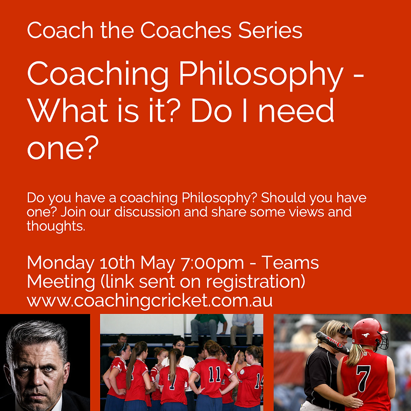 Coaching Philosophy - What is it and do I need one?