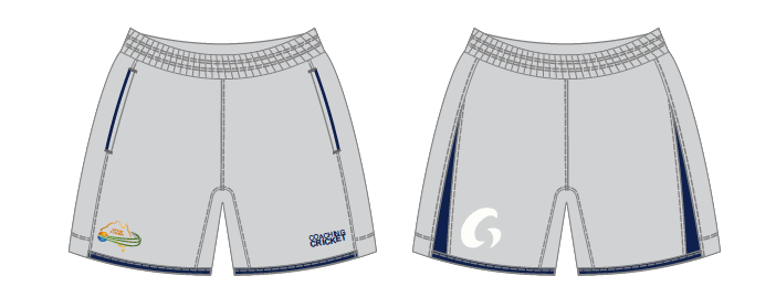 Coaching Cricket Training Shorts - Grey