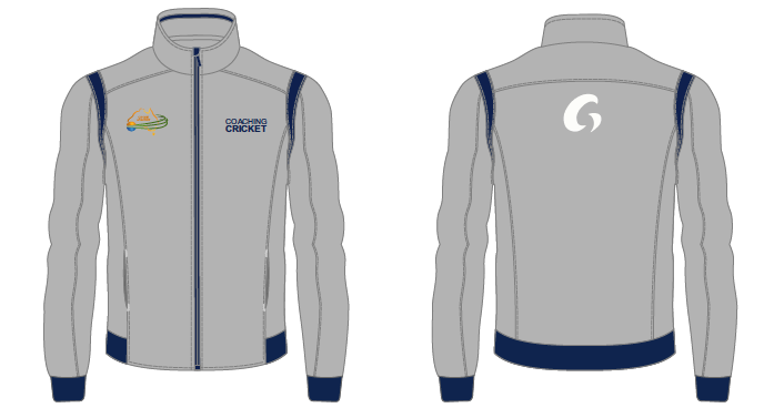 Coaching Cricket Track Top - Grey