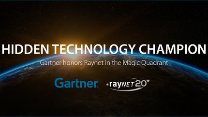 "Raynet ""Secret Technology Champion"" in the Gartner Magic Quadrant"