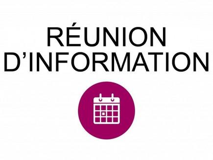 Réunion d'informations le 7 mars 2021