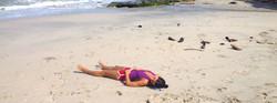 Sunbathing at Beach