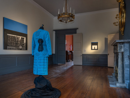 Installation view of the works of Precious Lovell and McKinley Wallace III