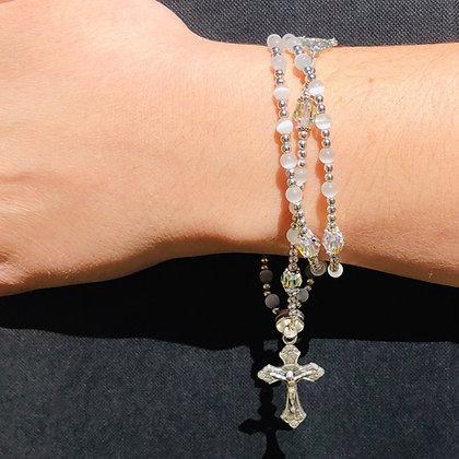 Double Wrap Full Rosary Bracelet