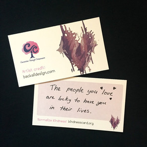 Kindness Card featuring art by Back Ali Design