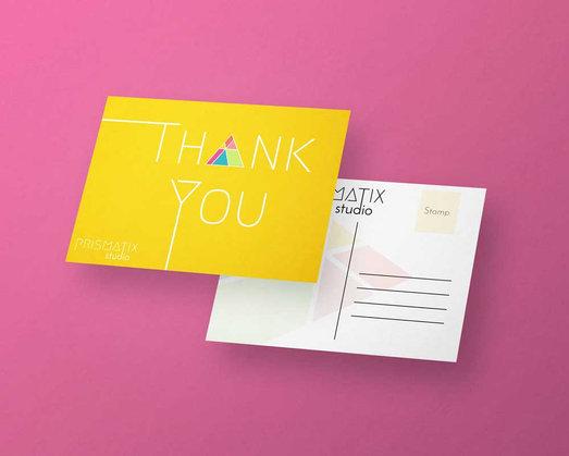 Prismatix Thank You Card