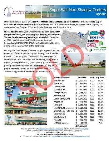 Klein Super Wal-Mart Shadow Centers Auct