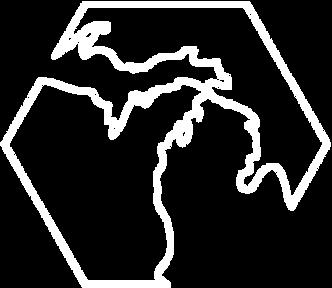 Michigan Outline, Metro Bureau Logo