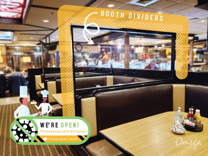 Omega Restaurant & Bakery_booth dividers