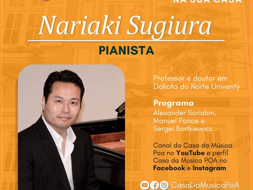 CASA DA MÚSICA NA SUA CASA promove recital de piano com Nariaki Sugiura