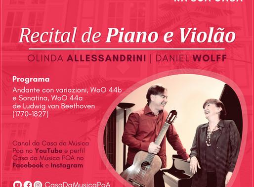 CASA DA MÚSICA NA SUA CASA apresenta Olinda Allessandrini e Daniel Wolf