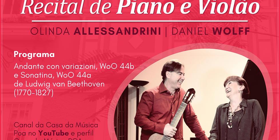 Pianista Olinda Allessandrini e violonista Daniel Wolff tocam juntos em recital virtual (1)