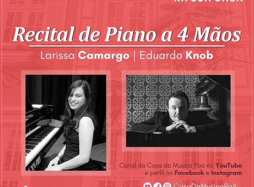 CASA DA MÚSICA NA SUA CASA apresenta duo de pianistas