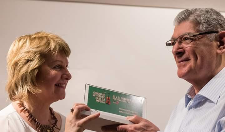 Angela Diel e Prof. Marcelo Guerchfeld.j