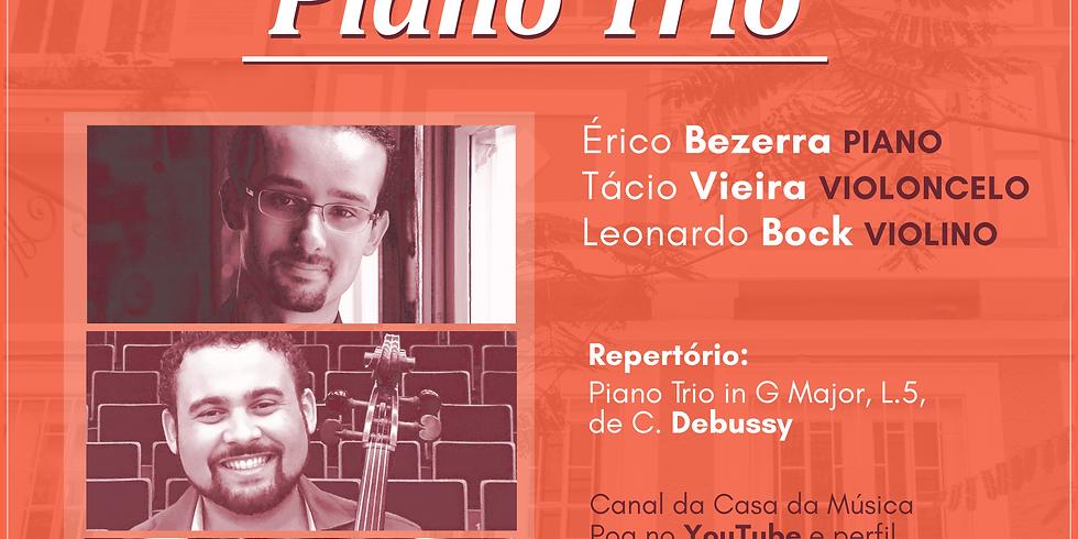 CASA DA MÚSICA NA SUA CASA apresenta trio com violino, violoncelo e piano