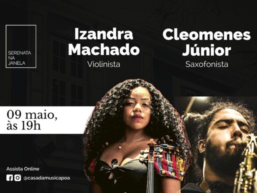 SERENATA NA JANELA promove apresentações solo de violino e saxofone