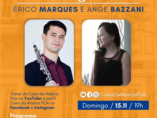 CASA DA MÚSICA NA SUA CASA apresenta recital virtual de fagote e oboé