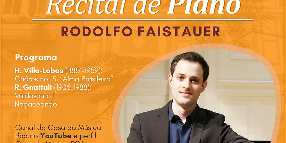 Casa da Música recebe Rodolfo Faistauer para recital de piano
