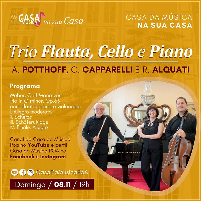 Recital de Flauta, Cello e Piano