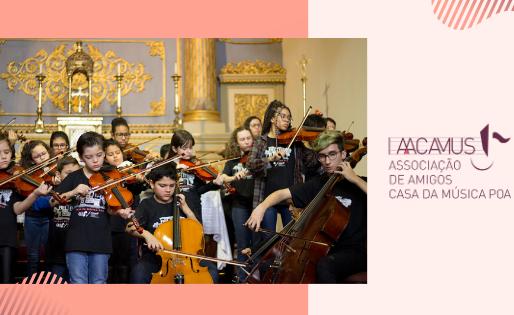 """Associação de Amigos Casa da Música (AACAMUS) lança campanha """"Doe um instrumento ou adote um aluno"""""""