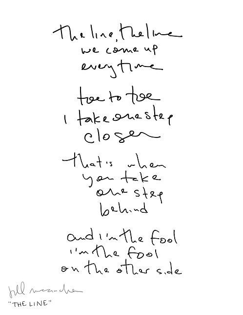 Handwritten Lyrics Sheet