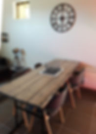 Salle à manger du gîte à Sarlat