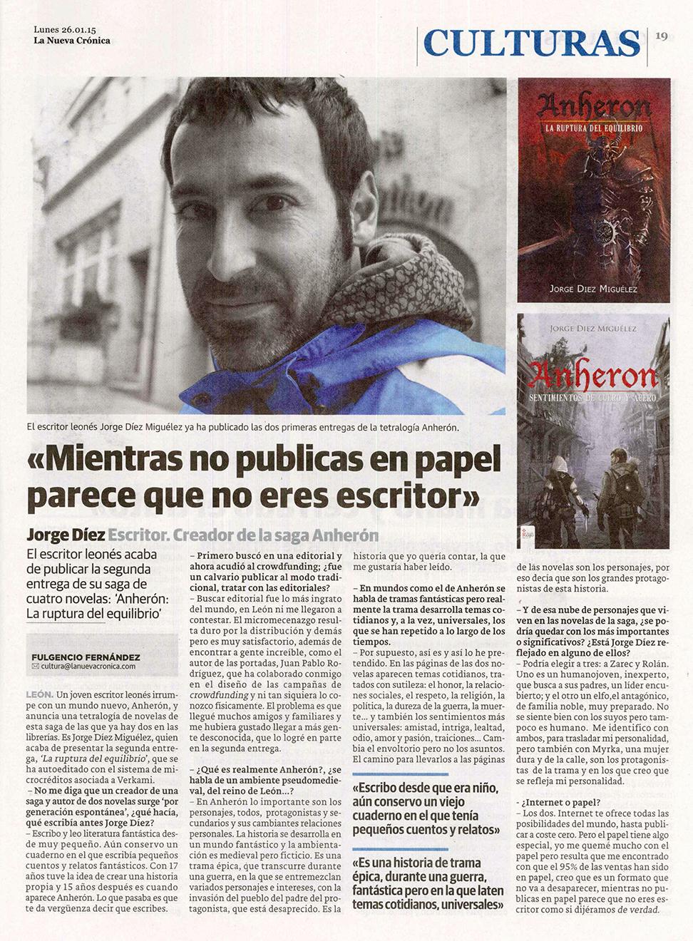 Entrevista - La Nueva Crónica
