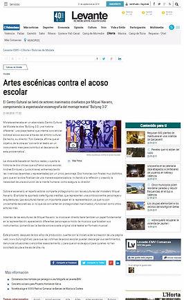 Prensa Levante.Emv. Estreno  Bullying 3.