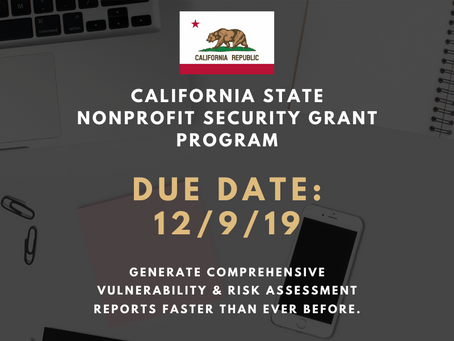 EasySet: California Nonprofit Security Grant - Vulnerability Assessment Required