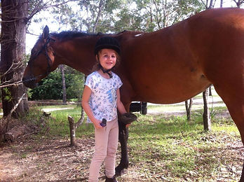 Happy rider at Port Macquarie Junior Riders Club