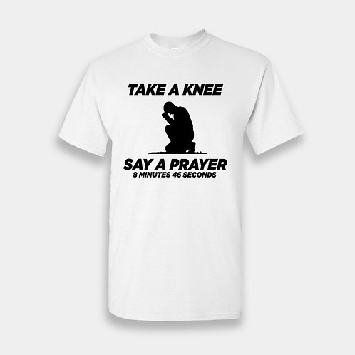 Take A Knee White Tee-2
