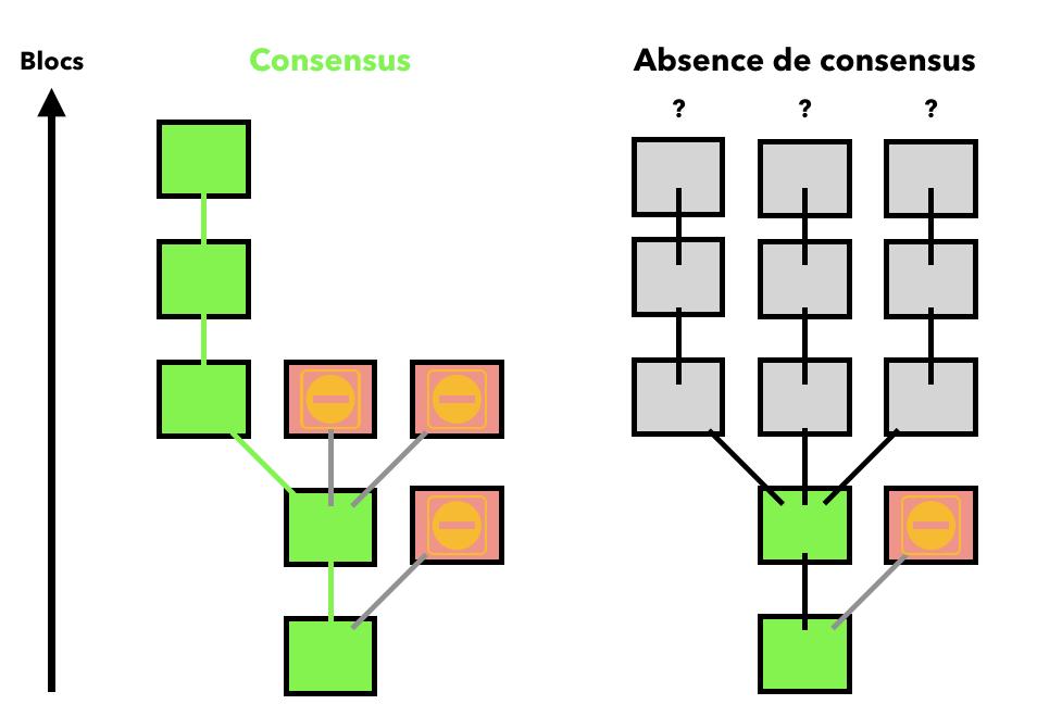 Consensus blockchain fork