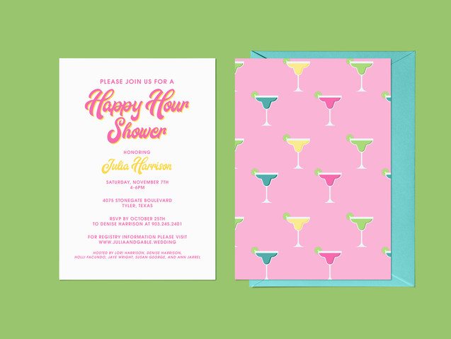 Happy Hour Shower Invitations