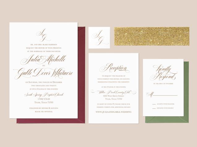 J & G Wedding Invitation Suite