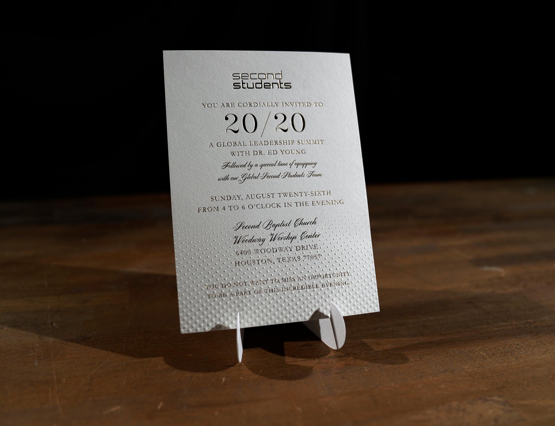 Second Students Vision 20/20 Invitation