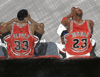 Pippen + Jordan