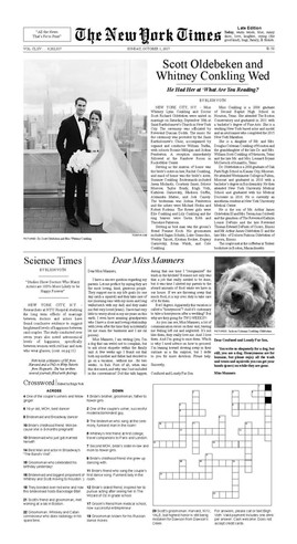 NY Times Wedding Announcement
