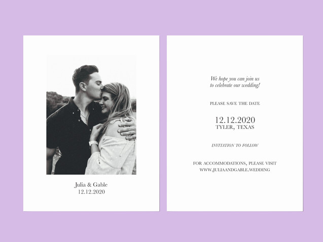 J & G Save the Date Front and Back